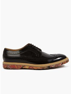 31e7dddbcc75d Love this  PAUL SMITH Mens Black Marble Sole Leather Brogues  Lyst Stylish  Men