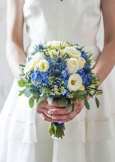 Blue wedding bouquet | http://kwiatyimiut.pl/
