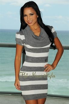I have an intense infatuation with sweater dresses. This one especially.