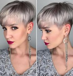 Ash Blonde Layered Undercut