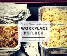 Are you planning or planning to attend a workplace potluck lunch? I have hosted monthly potlucks for five years in my office! Here are my tips.