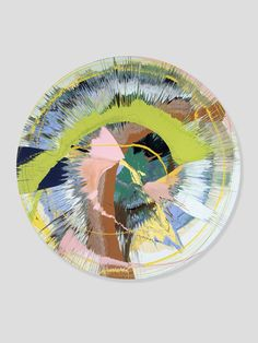 Queue the Damien Hirst posts… I want to share my favourite pieces.Beautiful Green Slash Painting,2002.