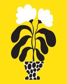 Plant Illustration, Botanical Illustration, Graphic Illustration, Flower Graphic, Naive Art, Art Projects, Art Drawings, Canvas Art, Pop Art