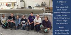 Senior Design Concrete Canoe team