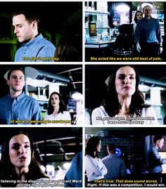 """""""You didn't see Daisy. She acted like we were still best of pals, all while threatening to murder me"""" - Leo and Jemma #AgentsOfSHIELD"""