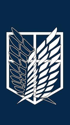 Find the best Attack on Titan Logo Wallpaper on GetWallpapers. We have background pictures for you! Attack Titan, Attack On Titan Fanart, Attack On Titan Symbol, Ereri, Beste Iphone Wallpaper, Aot Wallpaper, Wings Wallpaper, Goku E Vegeta, Titan Logo