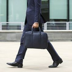 """Kickstarter Item of the week Slim leather briefcase with padded 15"""" laptop compartment from @issarahq  Click our bio link to see more on this one..."""