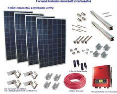 Photovoltaikanlage Bausatz 1kWp zur Hausnetzeinspeisung mit Dachhaken 3154-2