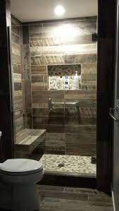 Image result for bathroom shower tub combo wood tiles
