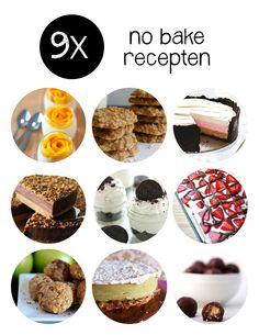 No bake recepten zijn ideaal voor wie niet zo handig is met een oven en toch lekkere taartjes en koekjes wil maken!