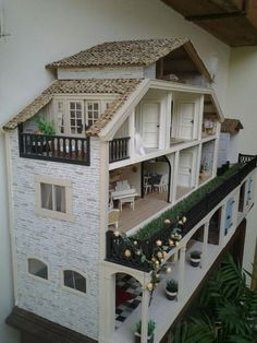 20 Dollhouses That'll Make You Wish You Could Fit Inside - Terrace Dollhouses! 20 Dollhouses That'll Make You Wish You Could Fit Inside - Terrace Dollhouses!