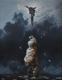Artwork in painting by Joel Rea
