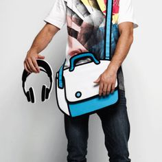 Real bags that look like 2D drawings! (www.jumpfrompaper.com)