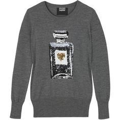 Designer Clothes, Shoes & Bags for Women Sequin Shirt, Markus Lupfer, Fashion Collage, Merino Wool Sweater, Grey Shirt, Sweater Weather, Perfume Bottles, Graphic Sweatshirt, Women's Fashion