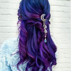 Moonchild hair pin i 2019 products dyed hair, hair color og Dark Pink Hair, Brown Ombre Hair, Ombre Hair Color, Cool Hair Color, Long Purple Hair, Brown Bayalage, Purple Blonde Hair, Dyed Hair Ombre, Ice Blonde
