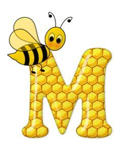 Alphabet letters bee on honeycomb. Scrapbook Letters, Bee Pictures, Spelling Bee, Bee Party, Alphabet Design, Bee Crafts, Alphabet And Numbers, Alphabet Letters, Letter Symbols