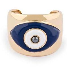 An Evil Eye cuff - Tory Burch!! Believed to ward off evil, jealousy, envy, etc. all bad things! Coming from Turkish/Cypriot and Egyptian parents, although very westernized with a childhood spent in Europe and an education finished in the United States, it was still a tradition handed down in our family. So why not be stylish and fashionable about it??!
