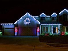 White Christmas Lights Light Displays Outside Xmas