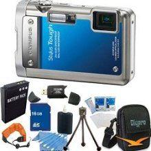 Stylus Tough 8010 Waterproof Shockproof Blue Digital Camera 16GB