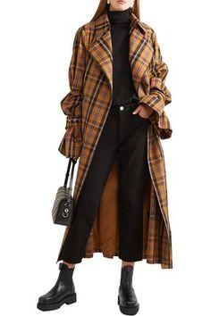 Eytys Ortega Leather Platform Boots In Black Platform Boots Outfit, Black Platform Boots, Coats For Women, Jackets For Women, Clothes For Women, Ladies Clothes, Tartan, Chic Outfits, Fashion Outfits