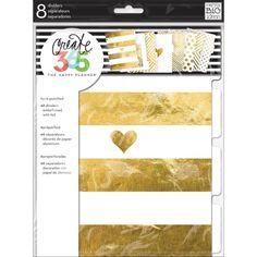 Gold Create 365 Dividers 8/Pkg