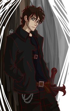 An older version of Nico Di Angelo. Finally old enough for it to be acceptable for me to crush on <3 . <3