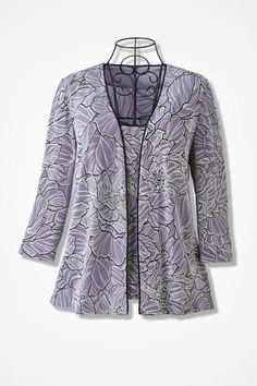 Nouveau Shimmer Jacket Set - Coldwater Creek