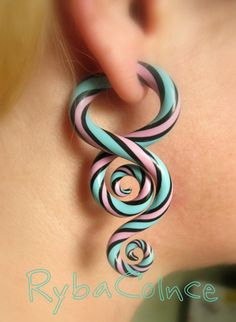 Fake ear gauges / Faux gauge/Gauge earrings / fake by RybaColnce, $22.00