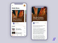 Online Publishing App by Purrweb UX on Dribbble Daily News, App Design, Application Design