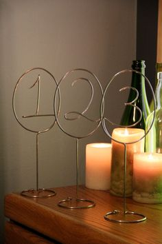 Wire Table Numbers - Set of 3. $35.99, via Etsy.