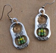 Reciclar, Reutilizar y Reducir : 25 Hermosos pendientes con anillas de latas de…