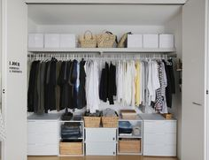 Make full use of the housework room where you can hang, fold, and hang up your laundry Living Room Green, Living Room Decor, Bedroom Decor, Clothes Storage Solutions, Closet Layout, Closet Remodel, Wardrobe Design, Walk In Closet, Home Renovation