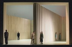 Three Sisters. Deutsches Theater, Berlin. Scenic design by Olaf Altmann. 2003