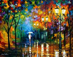 LATE STROLL 1 - PALETTE KNIFE Oil Painting On Canvas By Leonid Afremov - http://afremov.com/LATE-STROLL-1-PALETTE-KNIFE-Oil-Painting-On-Canvas-By-Leonid-Afremov-Size-24-x30.html?utm_source=s-pinterest&utm_medium=/afremov_usa&utm_campaign=ADD-YOUR