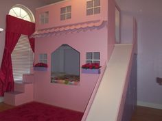 Playhouse Twin Bunk Bed/ Loft Bed For Boys Or Girls (plans To Build)