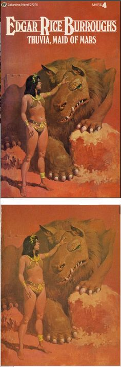 GINO D'ACHILLE - Thuvia, Maid of Mars by Edgar Rice Burroughs - 1973 Ballantine Books