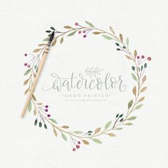Wreath Watercolor, Watercolor Leaves, Watercolor Pattern, Watercolor Illustration, Floral Watercolor, Bridal Invitations, Flower Invitation, Watercolor Invitations, Wedding Stationery