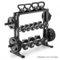 The Marcy Combo Weights Storage Rack is a Heavy Duty weight storage rack that co… Home Gym Garage, Diy Home Gym, Home Gym Decor, Gym Room At Home, Workout Room Home, Basement Gym, Workout Rooms, Home Gym Equipment, No Equipment Workout