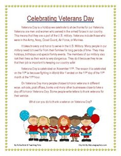 Polka Dots & Teaching Tots: Currently & A Veterans Day Freebie Poems For Middle School, Veterans Day Quotes, Veterans Day Activities, Remembrance Day, Speech Therapy Activities, Reading Passages, Elementary Music, School Holidays, Teaching Tools