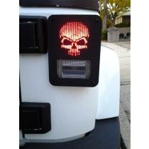 """Skull"" Jeep Wrangler jk tail light guards by Dnajeep, Inc."