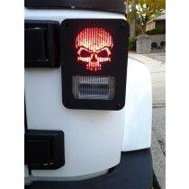 Skull Jeep WRANGLER JK Tail Light Guard