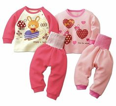kids winter pajamas pink