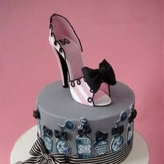 7PCS/Set High Heel Shoe Cake Mould Sugar Craft Fondant Molds Plastic High Heel Shoe Cake Mould Big Size Pink Color Baking Tools