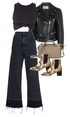 """Untitled #11344"" by minimalmanhattan on Polyvore featuring Acne Studios, Rachel Comey, Fendi and Isabel Marant"