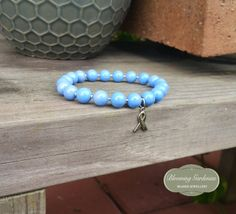 Periwinkle Awareness Charm Bracelet Stomach by BloomingGardenias