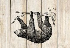 Sloth Temporary Tattoo by SymbolicImports on Etsy
