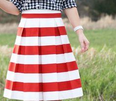 Corilynn  The Awning Skirt :: Red