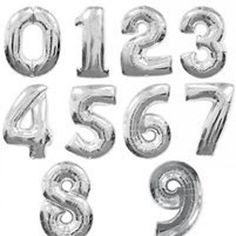 SILVER 40 inch Mylar Number Balloons 40 Balloons by shoptomkat Helium Number Balloons, Large Number Balloons, Letter Balloons, Foil Balloons, Wedding Balloon Decorations, Wedding Balloons, Birthday Balloons, Anniversary Decorations, Balloon Party
