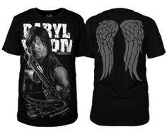 The Walking Dead DARYL DIXON Black T-shirt Men's Short Sleevse Cotton T Shirt #Unbranded #BasicTee