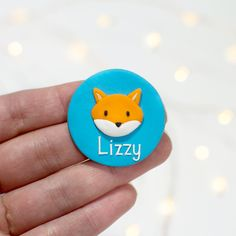Nurse Name Badge - Fox Nurse Name Badge, Personalised Badges, Color Glaze, Name Badges, Air Dry Clay, Handmade Polymer Clay, Clay Crafts, Colorful Pictures, Colorful Backgrounds
